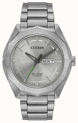 Citizen Pulseira de titânio masculina pulseira de prata AW0060-54A