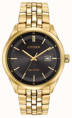 Citizen Prateleira dourada de ouro com pulseira de ouro preto BM7252-51E