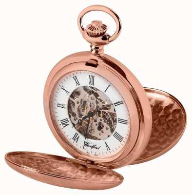 Woodford Relógio de bolso dourado dourado de caçador dupla 1090