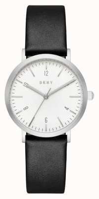 DKNY Braille de couro preta preto e branco NY2506