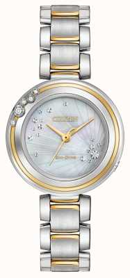 Citizen Womens carina diamond two tone EM0464-59D