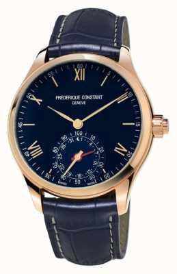 Frederique Constant Reloj horário blue rose bluetooth dourado FC-285N5B4