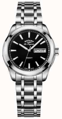 Rotary Mens ingressos originais de aço inoxidável GB90173/04