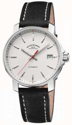 Muhle Glashutte Mostrador branco 29er com pulseira de couro preto M1-25-21-LB