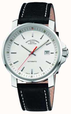 Muhle Glashutte Mostrador 29er grande pulseira de couro branco M1-25-31-LB
