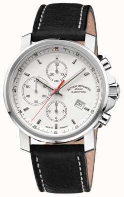 Muhle Glashutte 29er cronógrafo pulseira de couro mostrador branco M1-25-41-LB