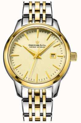 Dreyfuss 1890 - senhoras dreyfuss dois tons de ouro banhado relógio DLB00126/03