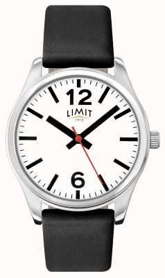 Limit Mens pulseira preta mostrador branco 5626.01