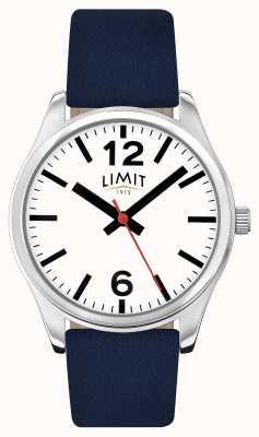 Limit Mens cinta azul mostrador branco 5627.01