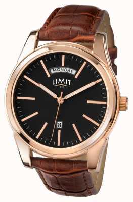 Limit Mens pulseira marrom mostrador preto 5484.01