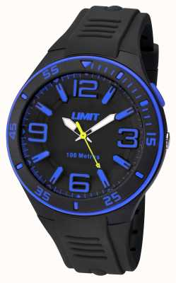 Limit Mens black strap preto dial 5568.24