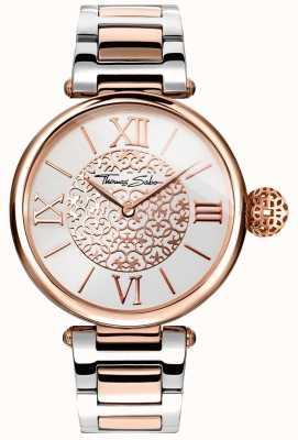 Thomas Sabo Carma da mulher dois tom pulseira de prata dial aço inoxidável WA0257-277-201-38