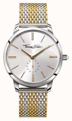 Thomas Sabo Womans glam spirit dois tom pulseira de aço mostrador prateado WA0272-282-201-33