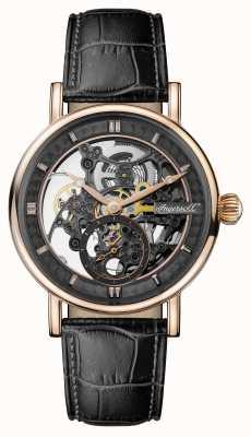 Ingersoll Mens 1892 a pulseira de couro preto automático herald I00403