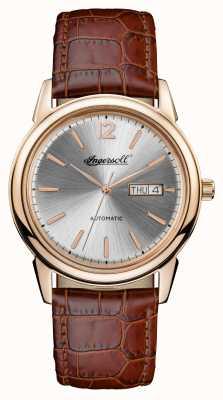 Ingersoll Mens 1892 a nova pulseira de couro marrom haven I00503