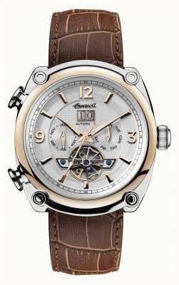 Ingersoll Mens 1892 a pulseira de couro marrom michigan I01103