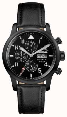 Ingersoll Mens descoberta do hatton pulseira de couro preto mostrador preto I01402