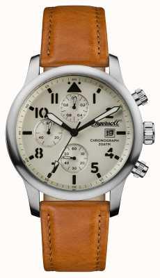 Ingersoll Mens descoberta a pulseira de couro marrom hatton I01501