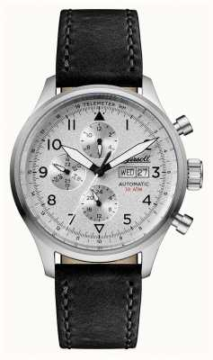 Ingersoll Mens descoberta do bateman pulseira de couro preto mostrador prateado I01901