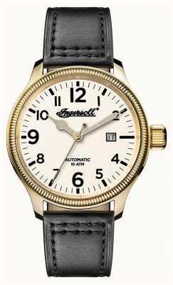 Ingersoll Mens descoberta a pulseira de couro apsley cinza branco I02702