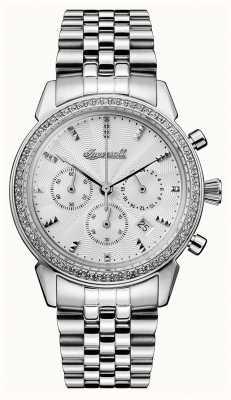 Ingersoll Crónica das mulheres a jóia de aço inoxidável prata dial I03903