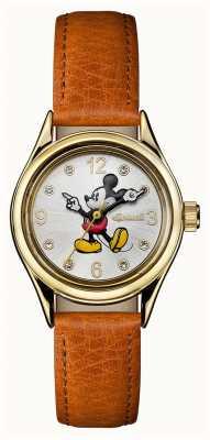 Disney By Ingersoll União das mulheres a disney pulseira de couro marrom mostrador prateado ID00901