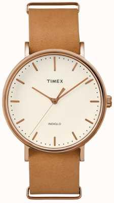 Timex Seletor de creme fairfield unissex weekender TW2P91200