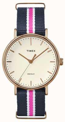 Timex Womans weekender fairfax marinha rosa cinta TW2P91500