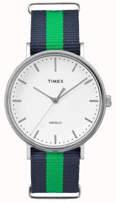 Timex Unisex weekender fairfax marinha verde cinta TW2P90800