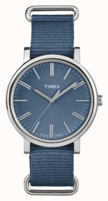 Timex Bracelete de tecido marinho marinho unisex TW2P88700