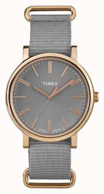 Timex Cinto de tecido cinza cinza unisex TW2P88600