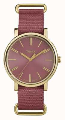 Timex Unisex rosa dial pulseira de tecido rosa TW2P78200