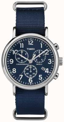 Timex Unisex weekender cronógrafo azul marinho TW2P71300