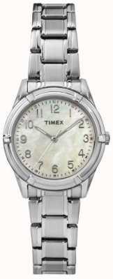 Timex Womans easton avenida pérola pulseira de aço de discagem TW2P76000