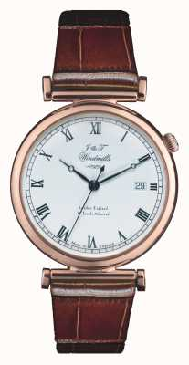 J&T Windmills Mens bartholomew mecânico rosa relógio de ouro WGS50001/01