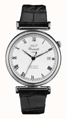 J&T Windmills Mens bartholomew relógio mecânico de prata esterlina WGS10000/08