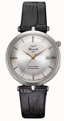 J&T Windmills Mens threadneedle relógio mecânico prata esterlina rosa de ouro WGS10001/06