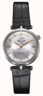 J&T Windmills Womans threadneedle relógio mecânico prateado ouro rosa WLS10001/06