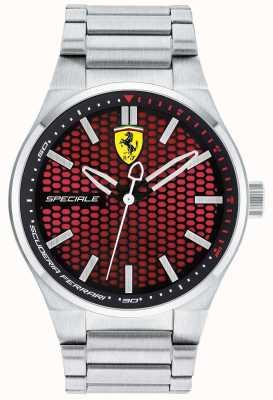 Scuderia Ferrari Mens pulseira de aço inoxidável speciale vermelho 0830357