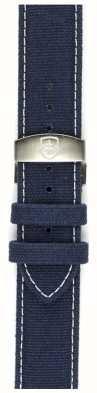 Elliot Brown Mens 22mm lavado tira de lona azul deployant apenas STR-C01