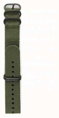 Elliot Brown Mens 22mm azeitona balística nylon pulseira de hardware gunmetal só STR-N01