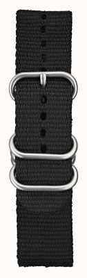 Elliot Brown Mens nylon preto balístico 22mm escovado hardware STR-N03