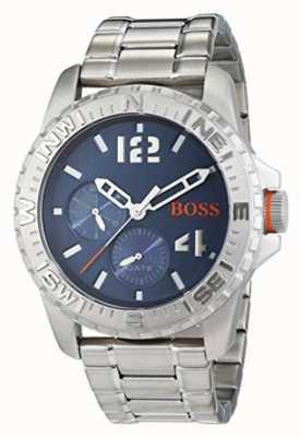 Hugo Boss Orange Mens reykjavik pulseira de aço inoxidável azul dial 1513424