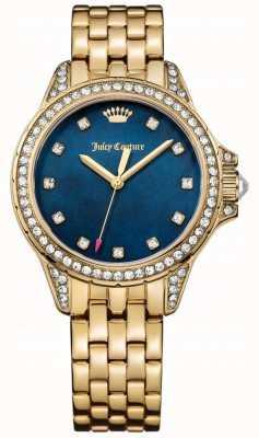 Juicy Couture Womens malibu gold tom ouro azul mãe de pérola 1901492