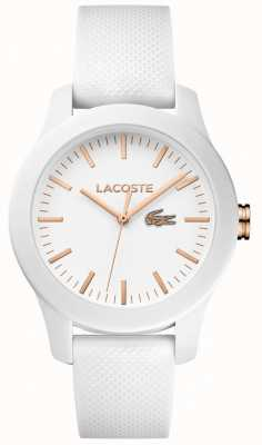Lacoste Mostrador branco pulseira de borracha branca 12.12 das mulheres 2000960