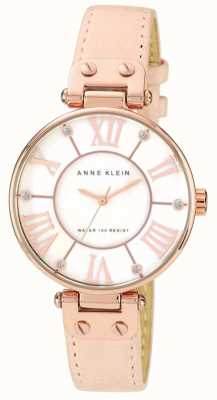 Anne Klein Dial de creme de couro rosa de mulher 10/N9918RGLP