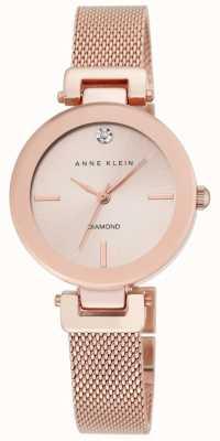 Anne Klein Malha de rosa de ouro das mulheres subiu dial de ouro AK/N2472RGRG