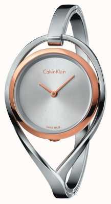 Calvin Klein Womens luz de aço inoxidável médio pulseira rosa caixa de ouro K6L2MB16