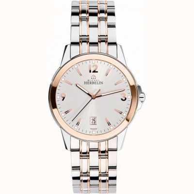 Michel Herbelin Mens embaixador subiu relógio de pulseira de ouro pvd 12250/BTR12
