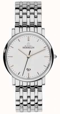 Michel Herbelin Malha de prata de aço inoxidável para homem 12543/B11